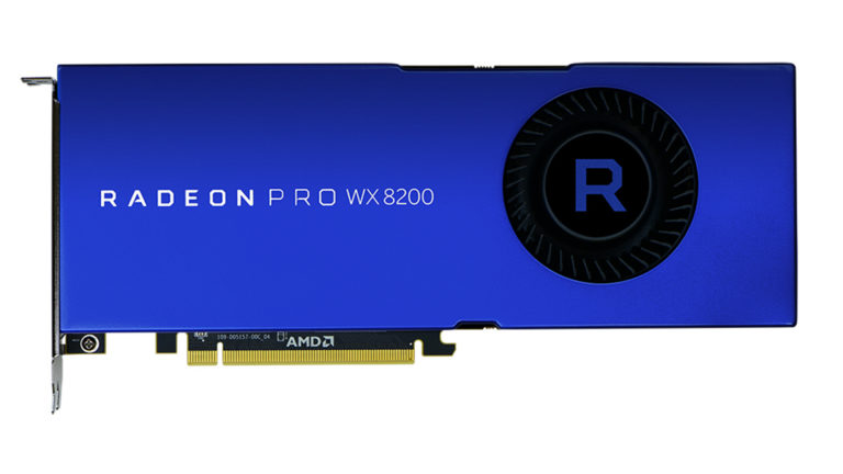 A professional video card Radeon Pro WX 8200 was presented at the Siggraph event
