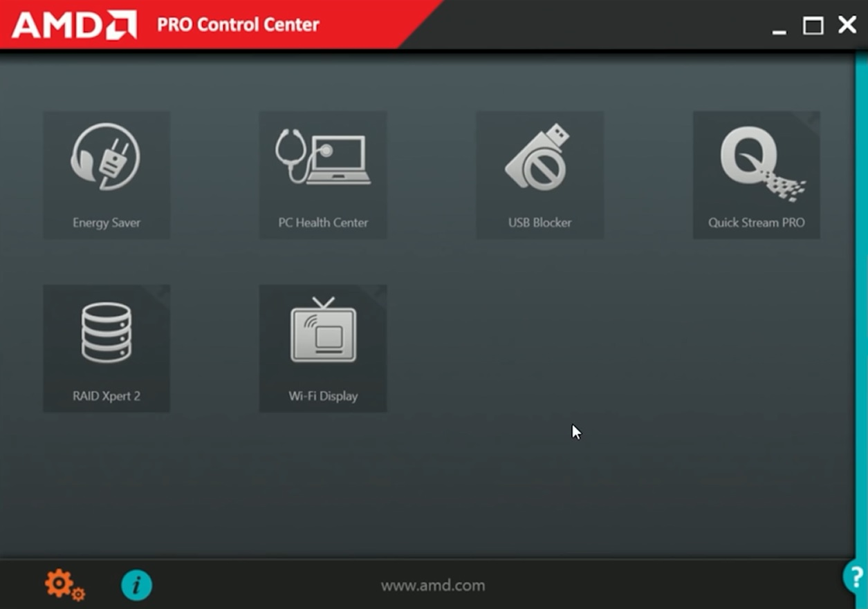 AMD PRO Control Center
