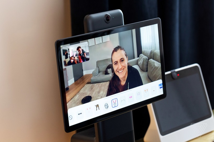 Facebook announced the release of the display for video chats