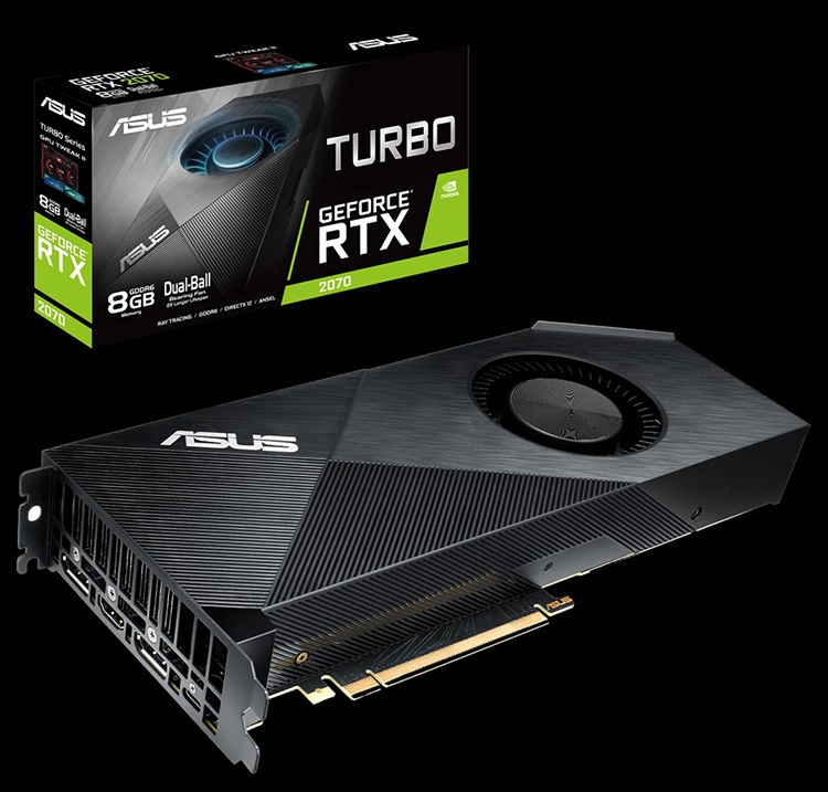ASUS presented a line of 7 graphics cards RTX2070