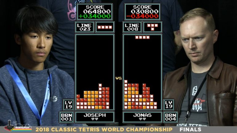 The new winner of the Tetris World Championship