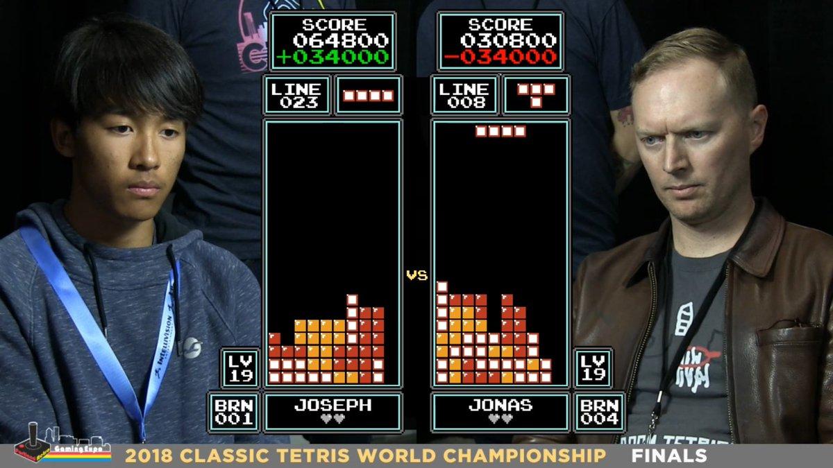 The new winner of the Tetris World Championship
