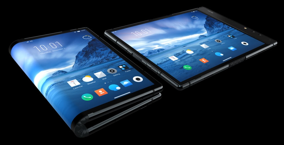 Royole introduced the world's first smartphone with a foldable display