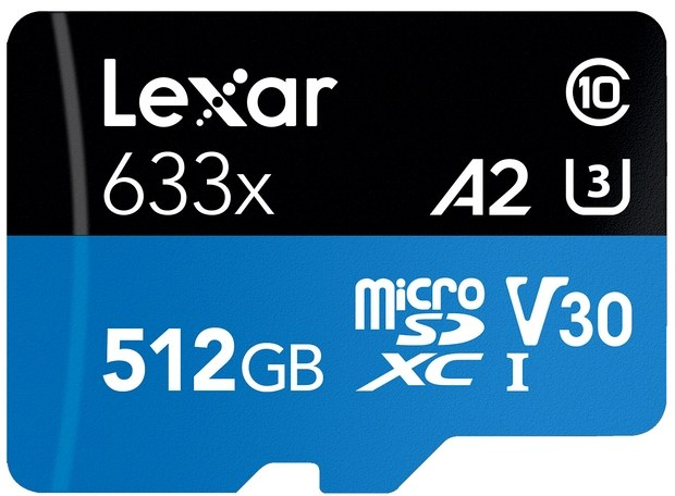 Lexar has released a microSD card of 512 gigabytes of A2 standard