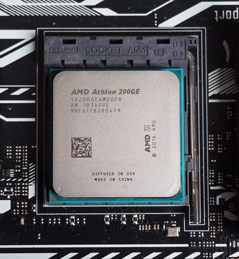 Athlon 200GE managed to overclock to 4 GHz