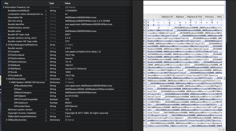 Упоминание ускорителей Navi замечено в коде MacOS Mojave