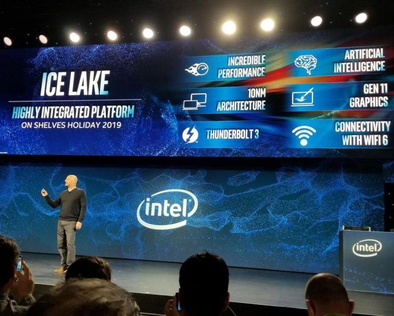 CES2019: Intel рассказала о планах на 10нм продукцию