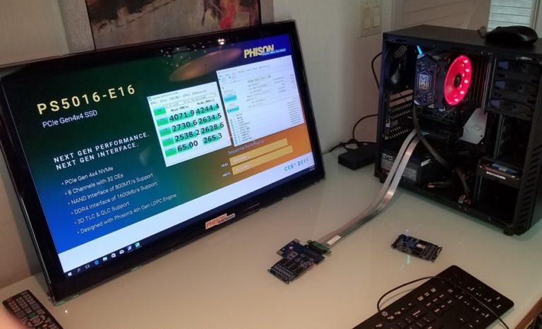 Phison показала жесткий диск SSD со сверхскоростной передачей данных
