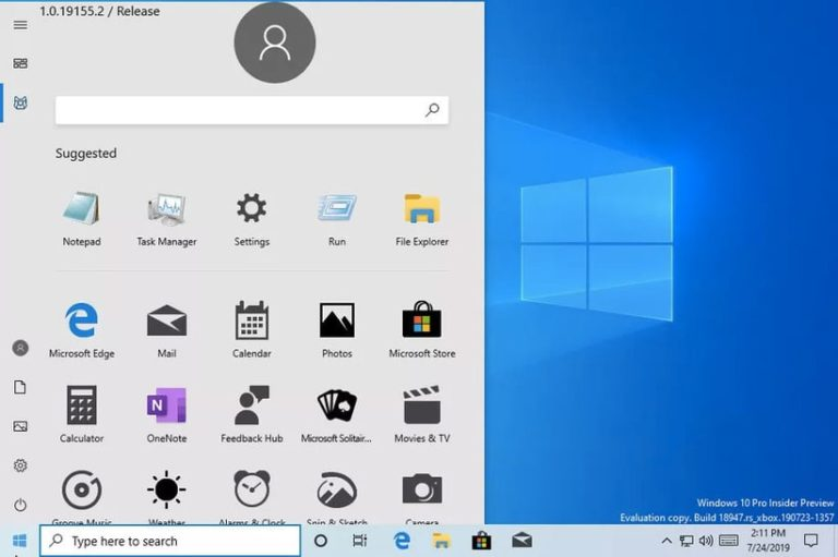 Рассекречен внешний вид обновлённого меню «Пуск» в Windows