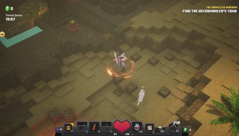 Игровое видео Minecraft: Dungeons – немного квадратный клон Diablo