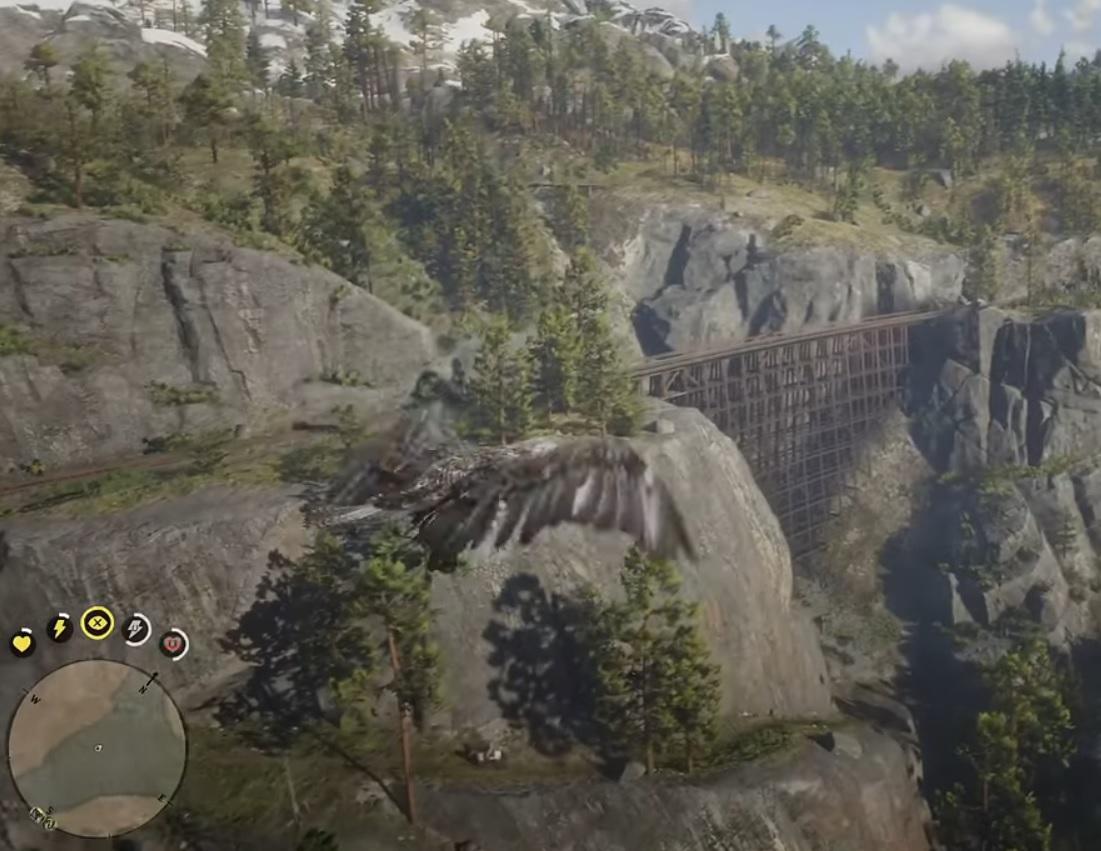 В Red Dead Redemption 2 появился мод, позволяющий играть за птицу