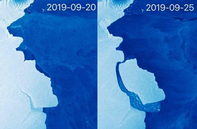 От Антарктиды откололся айсберг весом 315 миллиардов тонн