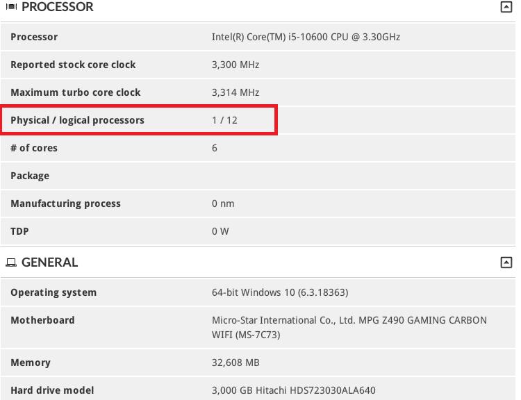 Core i5 10го поколения получат 6 ядер и 12 логических потоков