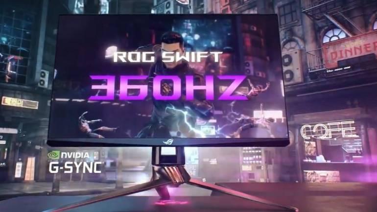 Nvidia представила монитор с частотой обновления 360 герц