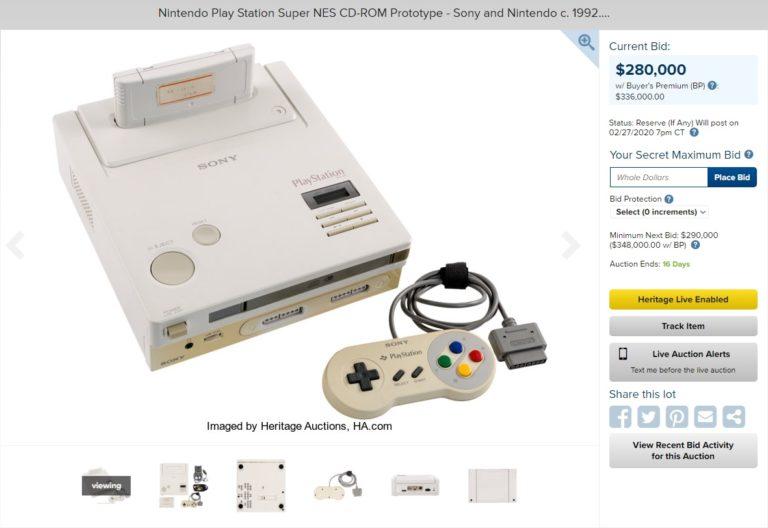 Прототип консоли Nintendo PlayStation продаётся за рекордные 336 000 долларов
