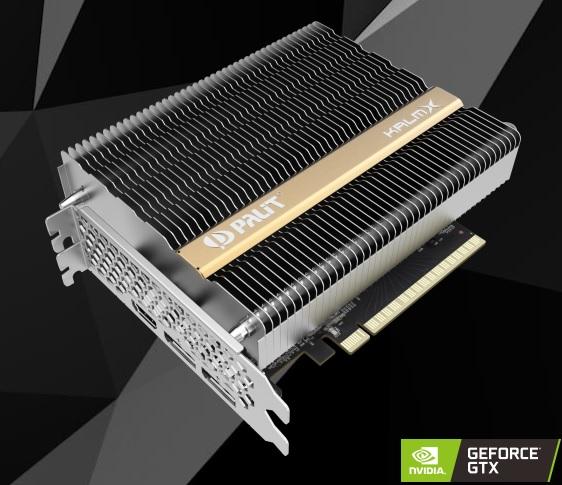 Palit GeForce GTX 1650 KalmX – игровая видеокарта с пассивным охлаждением