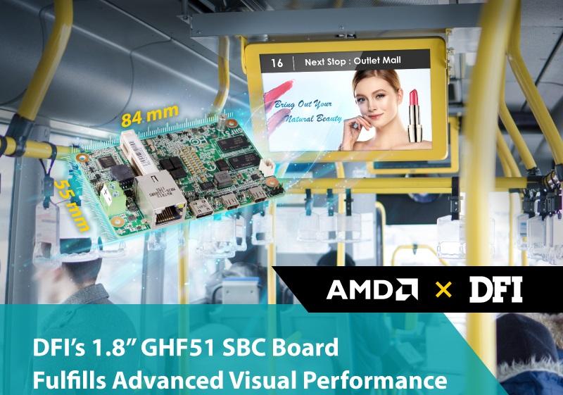 DFI GHF51 – одноплатный мини-пк с процессорами AMD Ryzen Embedded R1000