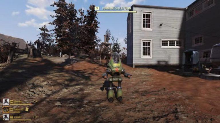В Fallout 76 робот-помощник занимается коммунистической пропагандой вместо добычи трофеев