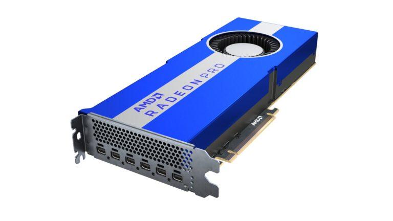 AMD представила профессиональную видеокарту Radeon Pro VII