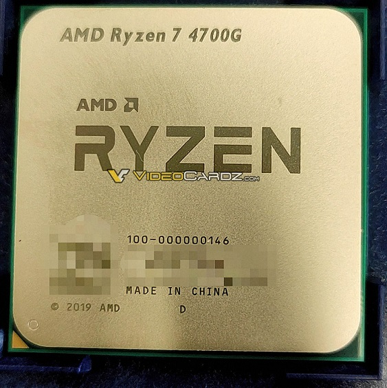 Первое изображение Ryzen 7 4700G и таблица готовящихся гибридных процессоров