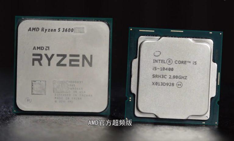 В сети появились результаты фэйкового сравнения AMD Ryzen 5 3600XT и Intel Core i5 10400