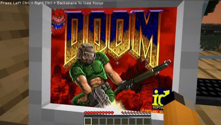Моддер собрал в Minecraft персональный комьютер и сыграл на нём Doom