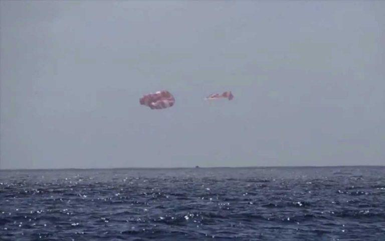 Многоразовый космический корабль Crew Dragon вернулся на Землю