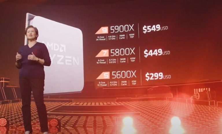 AMD представила настольные процессоры Ryzen5000