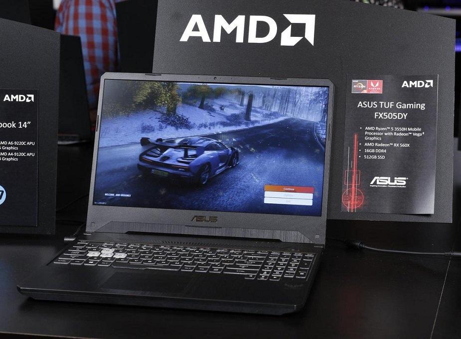 AMD уверенно «отгрызает» долю рынка ноутбуков у Intel