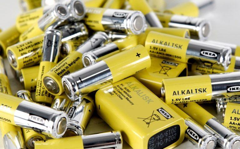 IKEA перестанет продавать батарейки