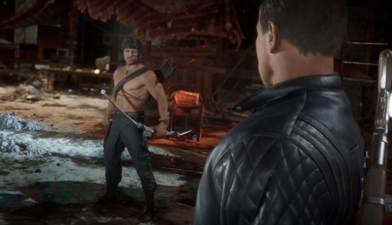 Эпичный бой Mortal Kombat 11: Рокки против Терминатора