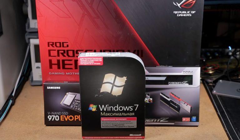Гайд по установке Windows 7 на Ryzen 9 3950 + X470