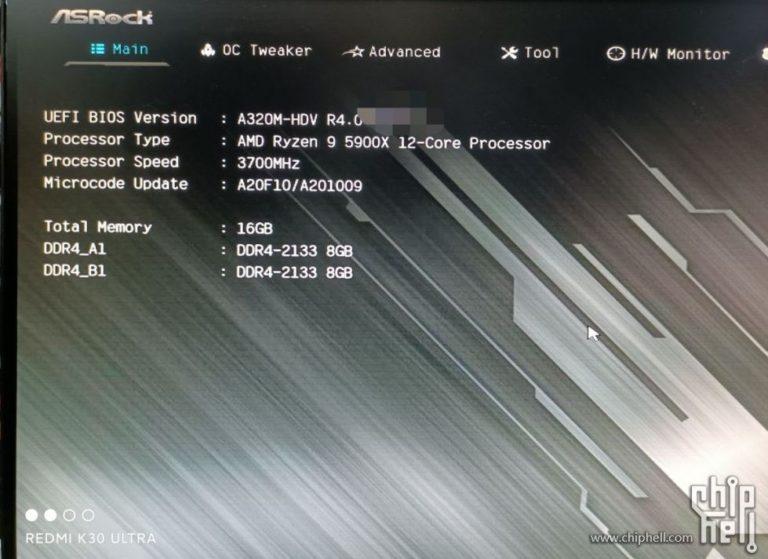 AMD Ryzen 9 5900X запустили на материнской плате с бюджетным чипсетом A320