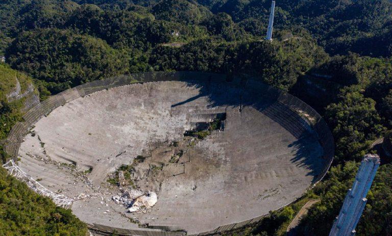 Видео момента разрушения 305 метрового телескопа «Аресибо»