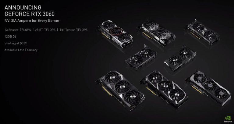 Nvidia представила GeForce RTX3060
