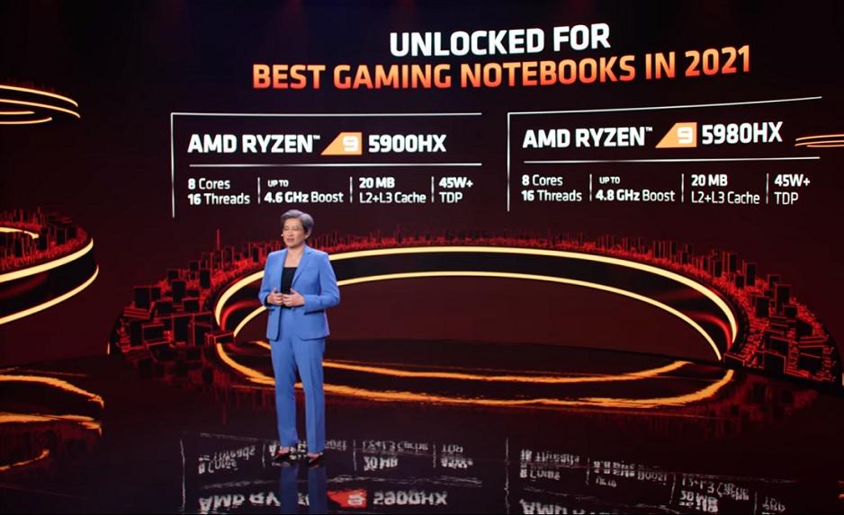AMD представила мобильные процессоры Ryzen 5000й серии