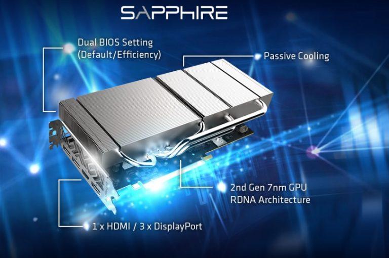 Sapphire показала Radeon RX5700XT с пассивным охлаждением