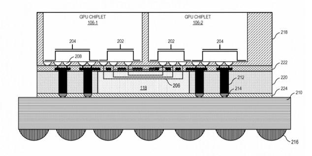 AMD запатентовала чиплетную конструкцию графического процессора