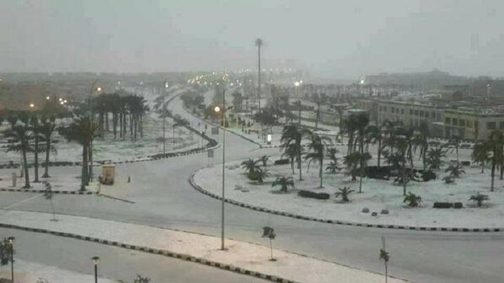 Север Африки засыпало снегом