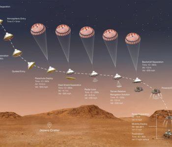 Марсоход Perseverance прислал на Землю первые видеоматериалы
