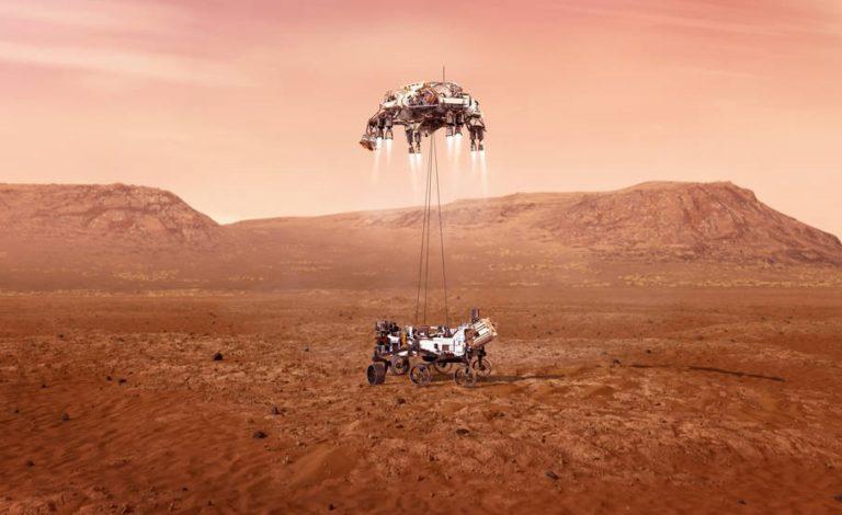 Завтра, 18 февраля в прямом эфире NASA покажет посадку марсохода Persevance