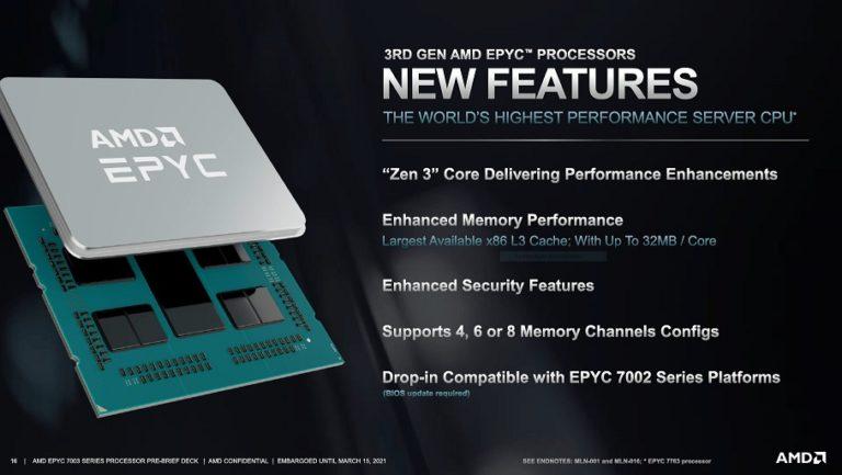 AMD представила серверные процессоры EPYC Milan(Zen3)