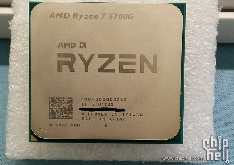 Стали известны частотные характеристики гибридных десктопных процессоров Ryzen 5000G