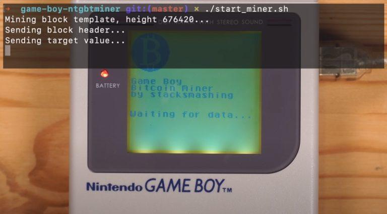 Энтузиаст приспособил оригинальный Game Boy под майнинг Биткойнов