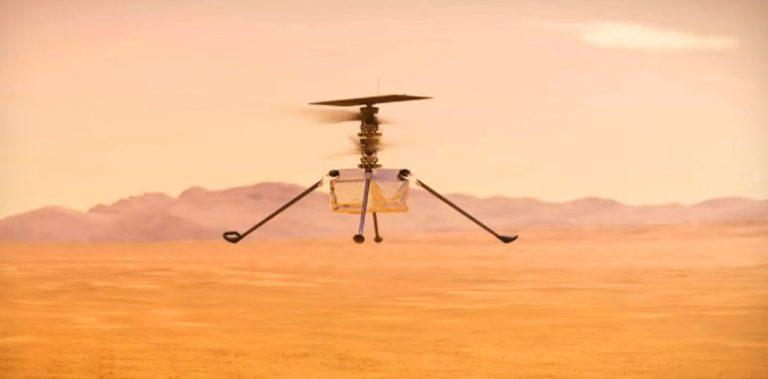 Вертолет Ingenuity совершил первый полет над поверхностью Марса