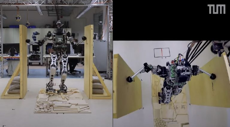 Немецкие учёные учат человекоподобного робота работать с опорными поверхностями