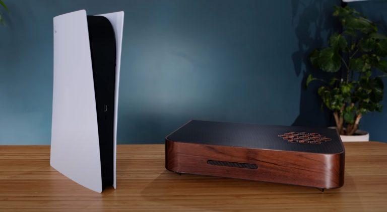 Блоггер сделал для своей консоли PlayStation 5 эксклюзивный деревянный ретро корпус