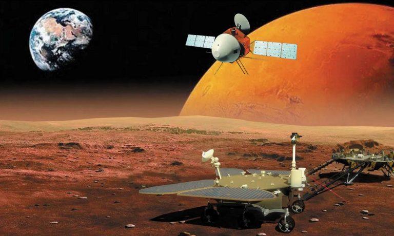 Первый китайский марсоход успешно спущен на «Красную планету»