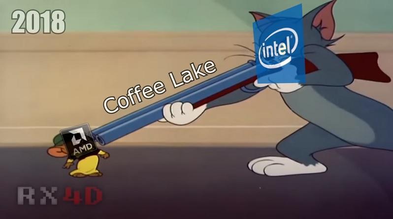 Отрывок истории конкуренции AMD и Intel перевоплощённый в мультфильм Том и Джерри