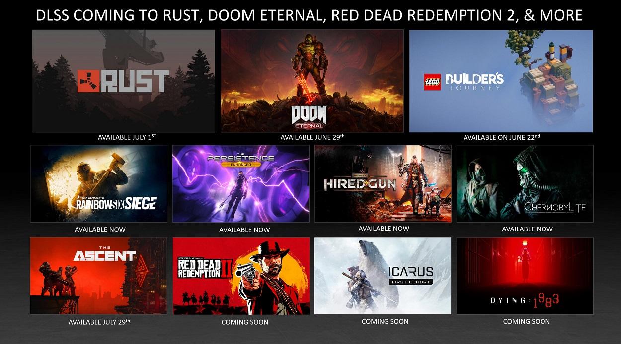Технология DLSS внедряется в новые популярные игровые проекты